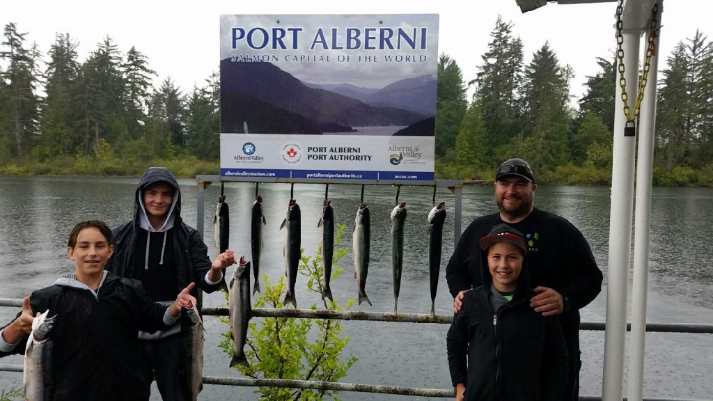 Sockeye Salmon fishing continued strong into August in the Alberni Inlet. Family from Kelowna fished with Slivers Charters and did extremely well on Sockeye Salmon