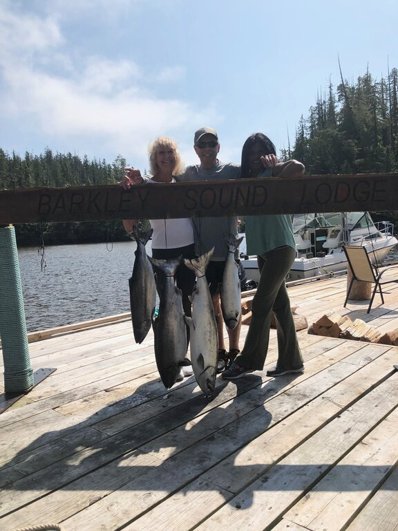 Veronica and Fatima from Burnaby and Langley B.C. fished with Doug of Slivers Charters Salmon Sport Fishing in August of 2020.   This was both ladies first salmon fishing adventure and both landed some nice salmon in the Barkley Sound area