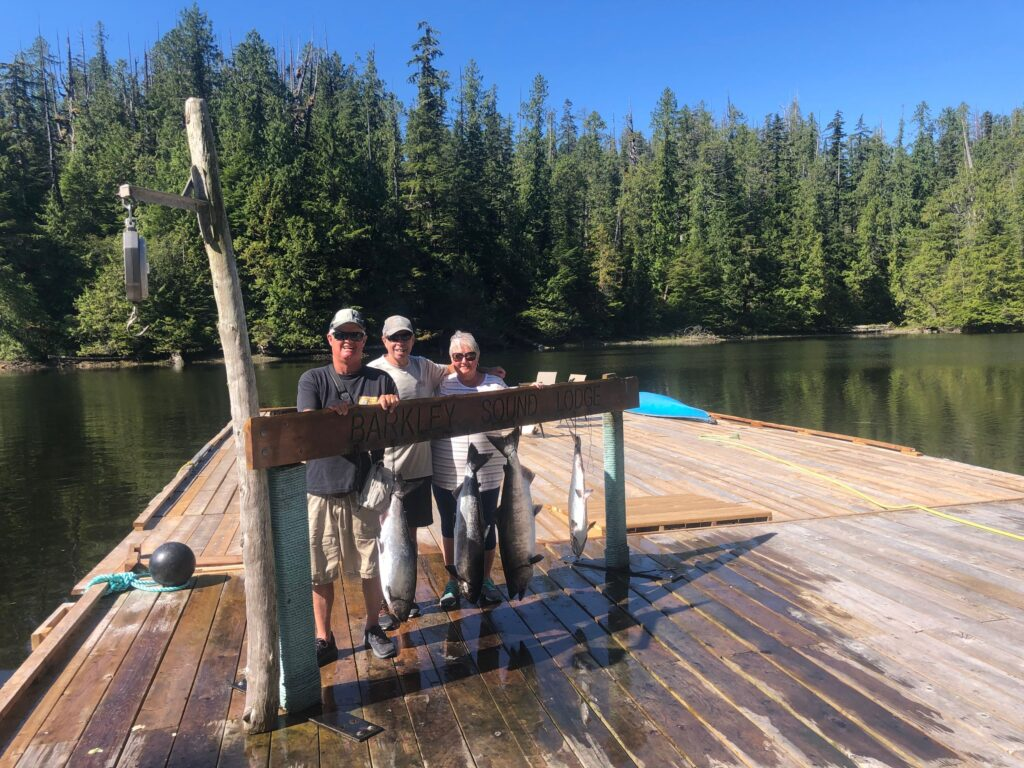 The Cameron's from Langley B.C. had a great morning fishing in Barkley Sound with Doug of Slivers Charters Salmon Sport fishing.   The 2021 season should see some World Class Sport fishing