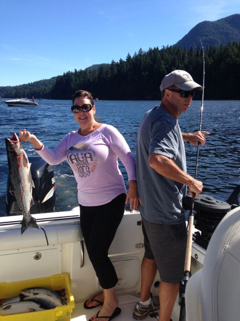 We are expecting to fish for Sockeye Salmon in the Alberni Inlet during the early summer of 2021.   Crystal fishing with Doug of Slivers Charters Salmon Sport Fishing has a great Sockeye salmon from the inlet.